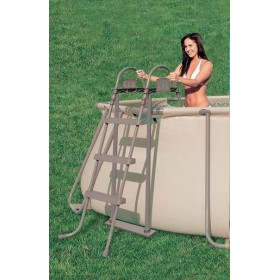 DOUBLE LADDER CLIMB, BROWN CM.107 FOR SWIMMING POOLS