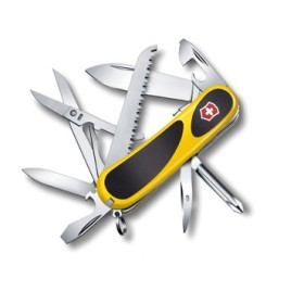 VICTORINOX MULTIUSO EVOGRIP S 18 GUANCIALI GIALLE NERE MM. 85