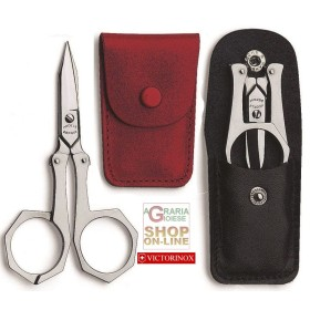 SCISSORS VICTORINOX STAINLESS STEEL WITH FOLDING CLASP VERY