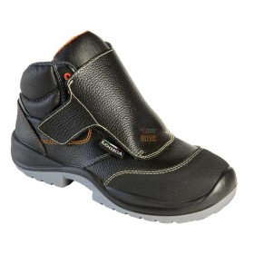 HIGH SHOES ANTIFORTUNISTICA S3 FOR a WELDER IN BLACK SKIN WITH