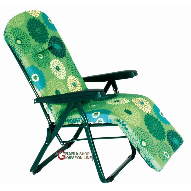 Sedia A Sdraio Con Poggiapiedi.Sedia A Sdraio Con Poggiapiedi 6 Posizioni Mdello Amalfi R 788 Cn