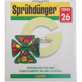 GOBBI SPRUHDUNGER TIPO 26 CONCIME FOGLIARE N.P.K. 15.28.20 CON MICROELEMENTI KG. 5