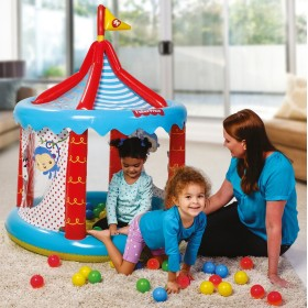 Bestway 93505 CIRCO GONFIABILE FISHER PRICE MULTICOLOR CON
