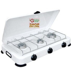GAS COOKER 3-BURNER STOVE WITH COVER
