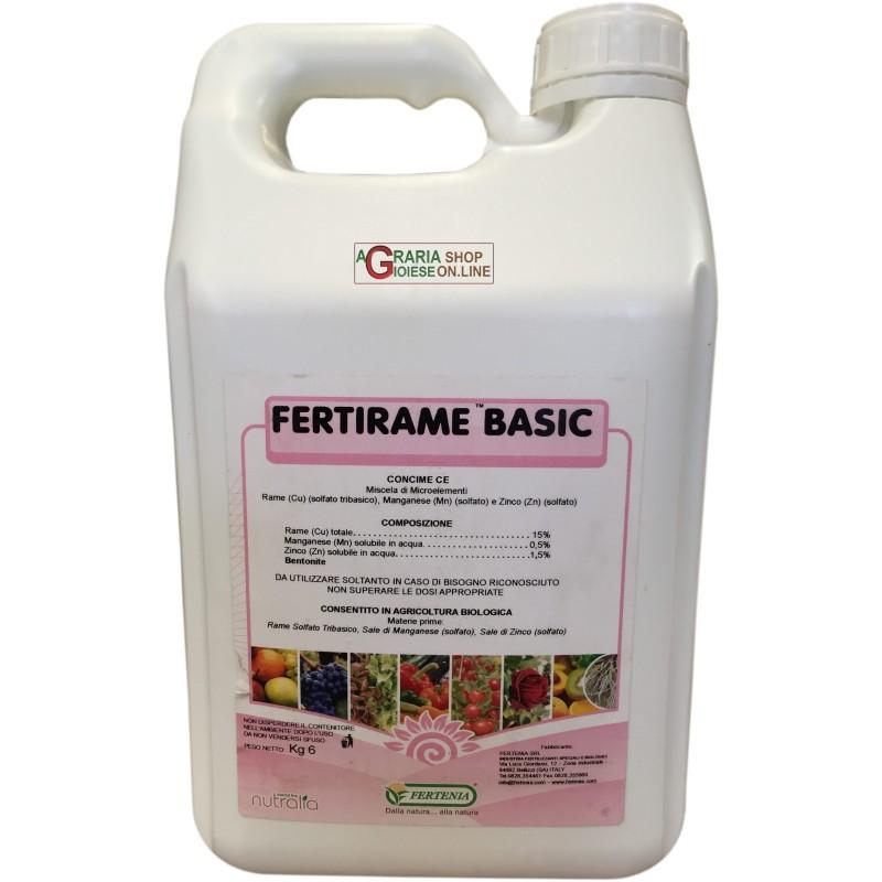 FERTENIA FERTIRAME BASIC FOLIAR FERTILIZER WITH A BASE OF COPPER, MANGANESE AND ZINC IN KG. 6