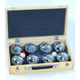 BOCCE PETANQUE BLINKY SET-2X4 BOX WOOD PCS.8 GR. 720