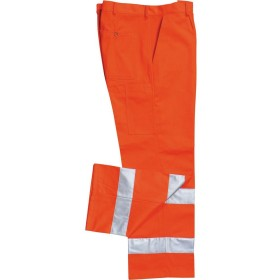 TROUSERS HIGH VISIBILITY ORANGE MOLESKIN