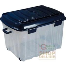 BOX BIG VOYAGER IN PLASTICA CON COPERCHIO RUOTE E MANIGLIA LT.