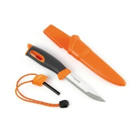 LIGHT MY FIRE SPORTS KNIFE HANDLE ORANGE FIXED BLADE LMF FK OR