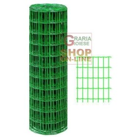 RETE METALLICA ELETTROSALDATA PLASTIFICATA ITALIA 75X60 MT.10