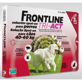 FRONTLINE ANTIPARASSITARIO PULCI ZECCHE TRI-ACT 40 - 60 KG.