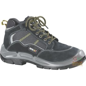 SCARPA ALTA IN CROSTA TIPO TREKKING INSERTI IN MATERIALE