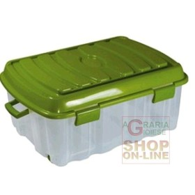 BOX BIG FLAT VOYAGER PLASTIC WITH COVER WHEELS AND HANDLE LT. 90