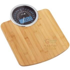 Bilancia pesapersona elettronica eva DIG DASHBOARD in bambù kg.
