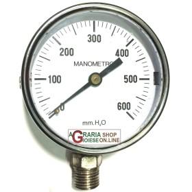 MANOMETRO A MEMBRANA PER GAS IN BASSA PRESSIONE ATTACCO RADIALE
