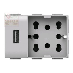 PRESA CORRENTE UNIKA USB UNIVERSALE MATIX COD. 4B AM H21 USB