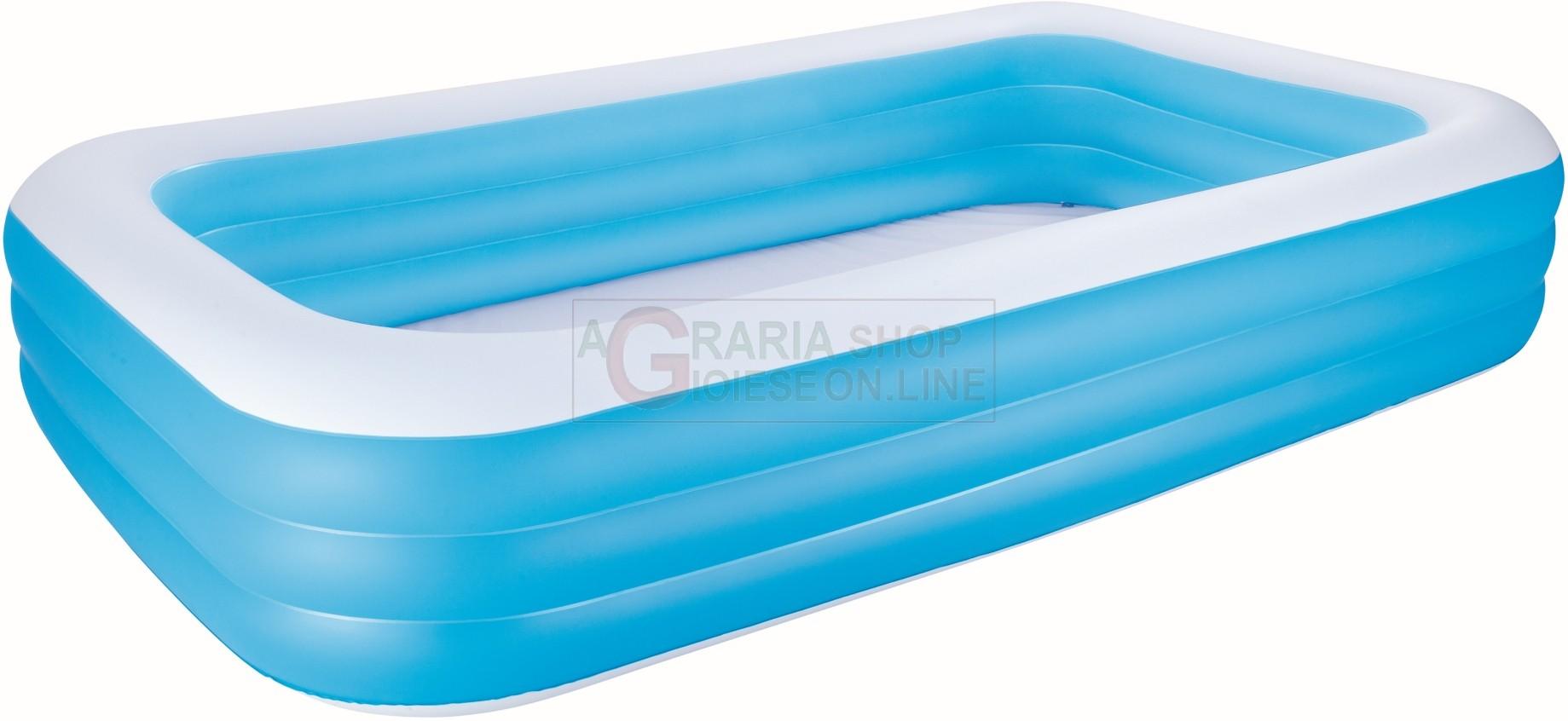 Bestway 54009 piscina gonfiabile rettangolare cm 305x183x56h - Manutenzione piscina fuori terra bestway ...