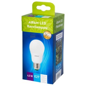 Lamp Drop Airam Finland led E27 watt. 6.5 for growing plants