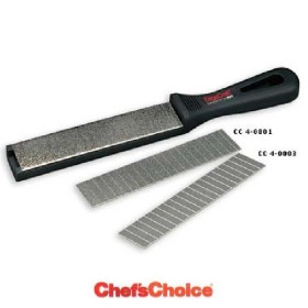 CHEFS CHOIS SHARPENING STEEL C/MAGN. AND PLATES