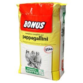 MANGIME COMPLETO PER PAPPAGALLINI BONUS SD6 KG. 25