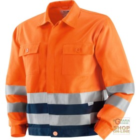 JACKET V-40% POLYESTER 60% COTTON WITH BANDS OF