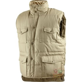 VEST COTTON POLYESTER PADDED KHAKI COLOR TG S M L XL XXL XXXL