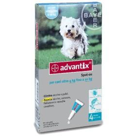 ADVANTIX PESTICIDE FLEAS TICKS TRIPLE ACTION FOR DOGS KG. 4 - 10