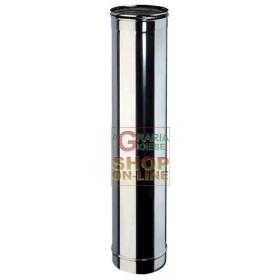 TUBO INOX PER CANNA FUMARIA AISI 304 CM. 100 DIAMETRO MM. 200