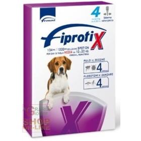 FIPROTIX SPOT-ONE ANTIPARASSITARIO PER CANI DI TAGLIA MEDIA DA KG. 10 A 20 PZ. 4