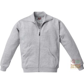 SWEATSHIRT 65% POLYESTER 35% COTTON WITH A ZIPPER AT THE BOTTOM