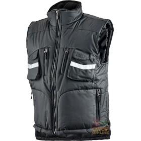 GILET IN POLIESTERE PVC CON PORTABADGE COLORE NERO TG S XXL