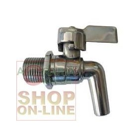 FAUCET STAINLESS STEEL CONTAINER, 3/4 IN THE LEVER