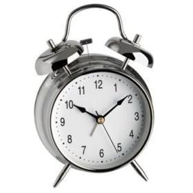 TFA ALARM CLOCK OLD STYLE STAINLESS STEEL TF 98.1043