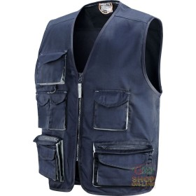 VEST 65% POLYESTER 35% COTTON MULTIPOCKETS WITH PLASTIC