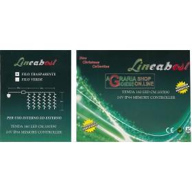 TENDA 160 LED BIANCO PER ESTERNO CM.200X90
