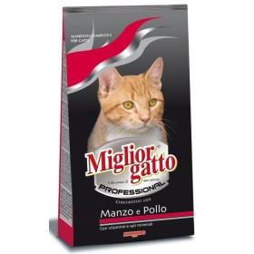 MIGLIORGATTO PROFESSIONAL MANZO-POLLO KG. 15