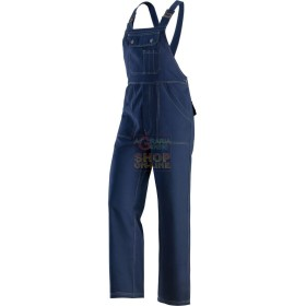 TROUSERS WITH BIB BY WORK MADE WITH FABRIC 100% COTTON TG. S TO