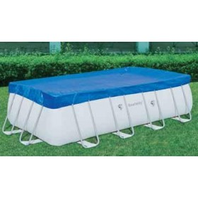 BESTWAY 58232 CLOTH TOP POOL COVER WITH FRAME-DIA. CM. 412X201