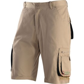 BERMUDA SHORTS 65% POLYESTER 35% COTTON MULTIPOCKETS KHAKI