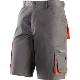 BERMUDA SHORTS 65% POLYESTER 35% COTTON MULTIPOCKETS COLOR GREY
