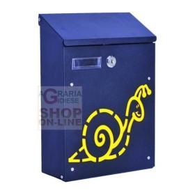 BLINKY BOX FOR LETTERS, SNAIL, STEEL, BLACK, CM. 21X8,5X30H