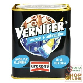 VERNIFER VERNICE A GEL CON ANTIRUGGINE NERO SATINATO ML. 750