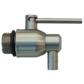 FAUCET STAINLESS STEEL CONTAINER, 1/2 LEVER CAPALDO