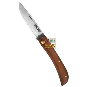 STOCKER FOLDING KNIFE HUNTING'S WOODEN HANDLE AND BLADE OF