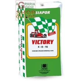 VICTORY CONCIME ORGANO MINERALE AD ALTO DI CARBONIO ORGANICO UMIFICATO NPK 4.8.16 KG. 25