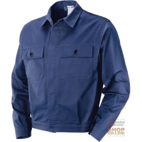 JACKET IN MOLESKIN 100% COTTON GR 340 350 BLUE TG 46 62