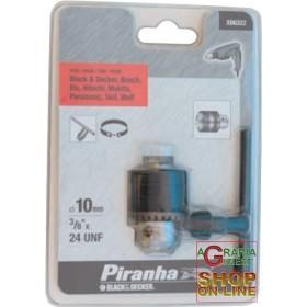 PIRANHA MANDRINO MM.10 F1/2X20 X66320