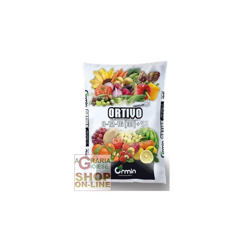 ORTIVO CONCIME ORGANO MINERALE 8.12.16 (30) +7,5 KG. 25