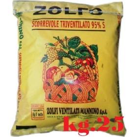 ZOLFO GIALLO SCORREVOLE TRIVENTILATO 95% KG. 25 MANNINO