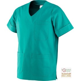 COAT THE MEDICAL USE OF 100% COTTON, COLOR GREEN TG XS XXL